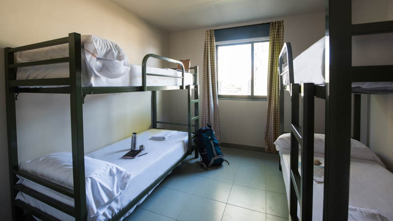 4-bed shared room